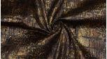 Атлас-стрейч Черно-золотой