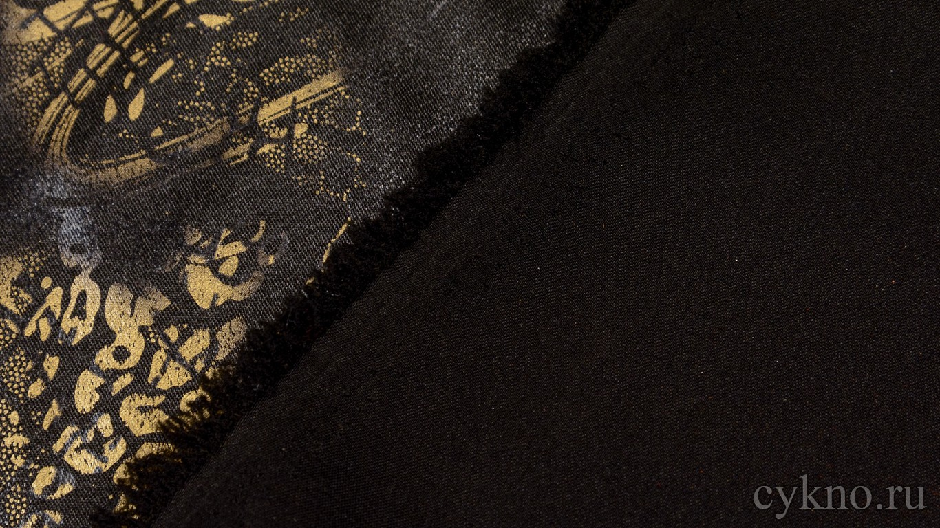 Атлас-стрейч Плотный с абстрактым узором