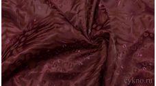 Атлас-стрейч Плотный Бордовый