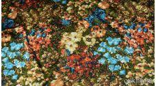 Атлас принт разноцветные цветы в августе