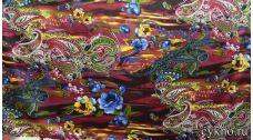 Атлас принт турецкий огурец цвета бордо