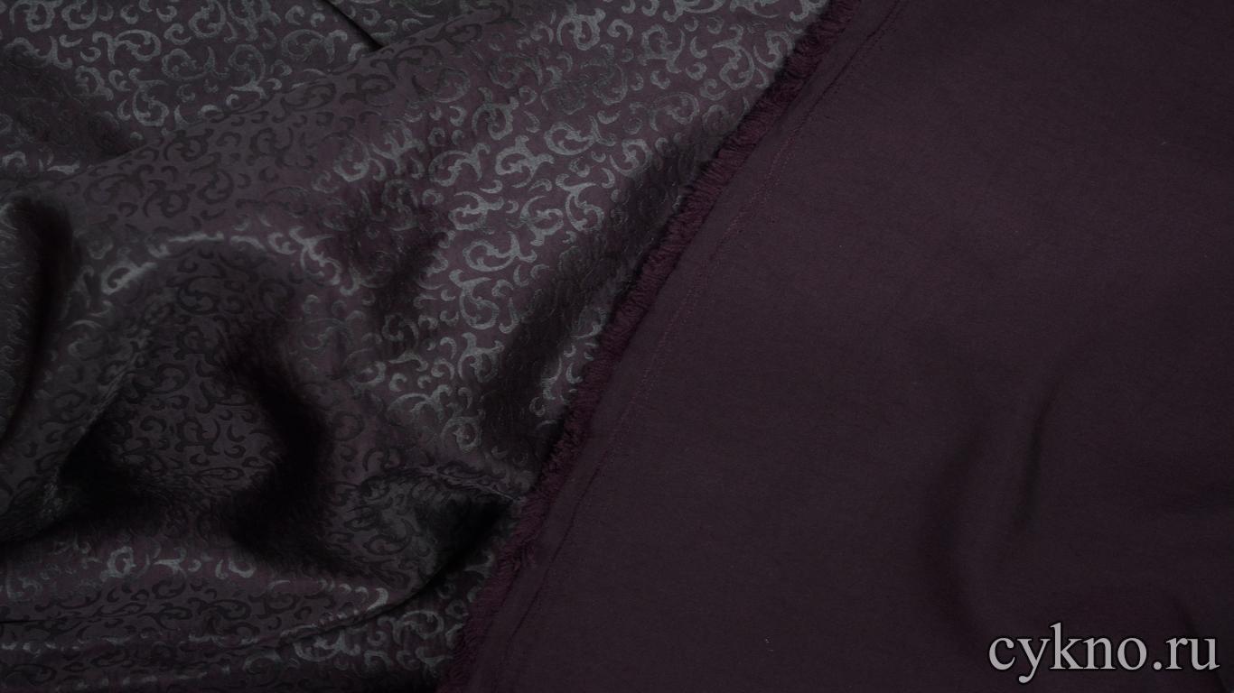 Атлас жаккардовый фиолетовый