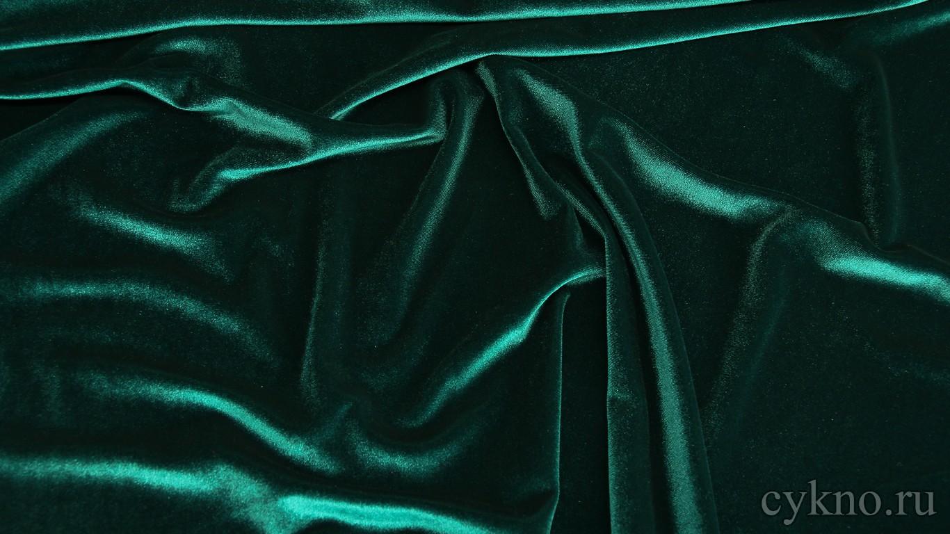 Бархат бирюзово-голубой