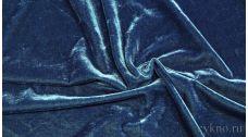 Бархат сине-голубой
