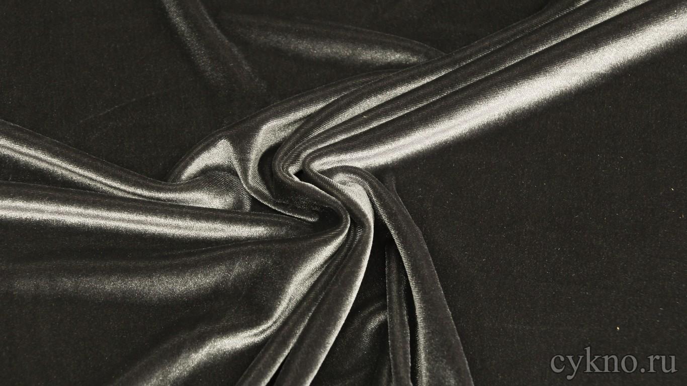 Бархат темно-серый