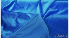 Бархат однотонный синий