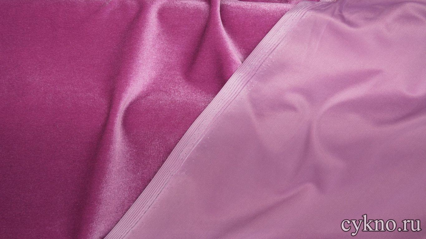 Бархат однотонный розовый темный