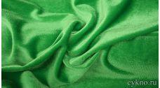 Бархат однотонный зелень