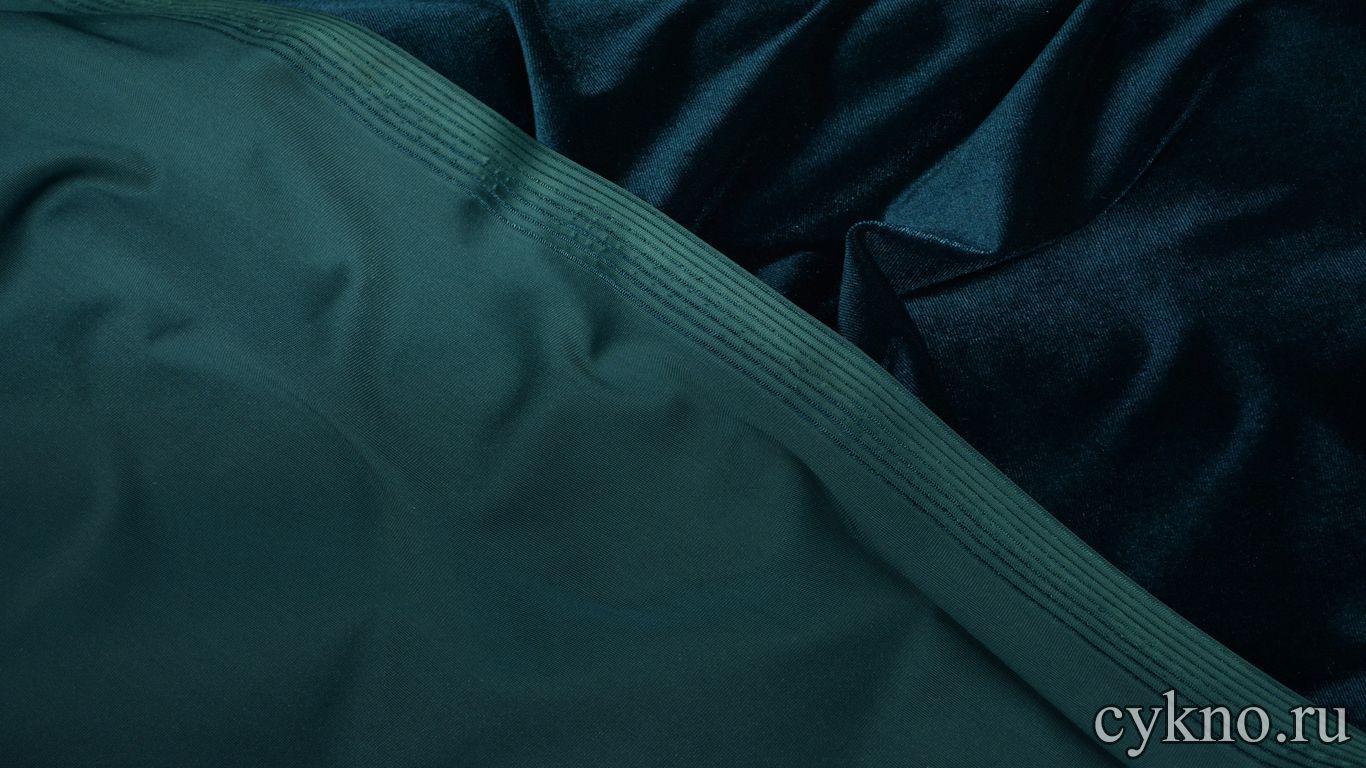 Бархат однотонный сине-зеленый