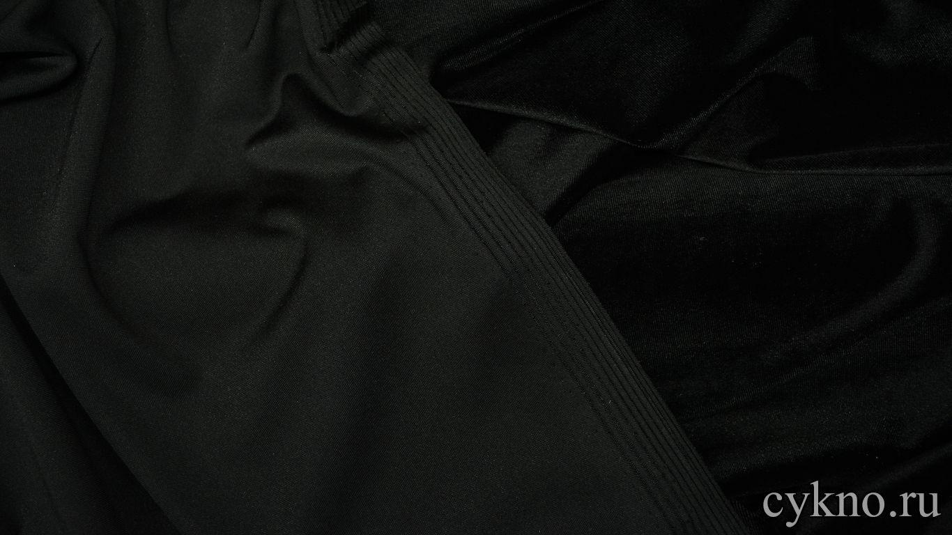 Бархат однотонный черный