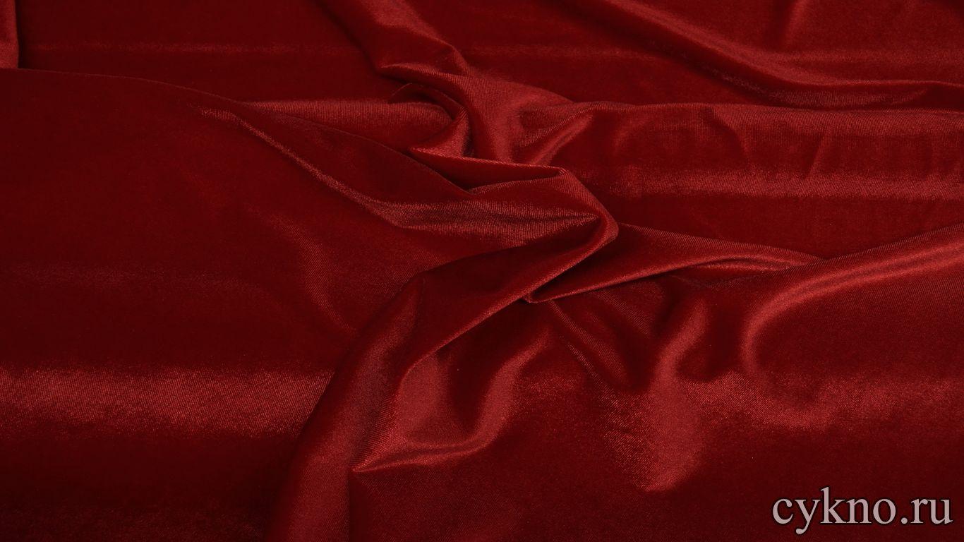 Бархат однотонный глубокий красный