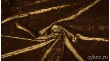Бархат мраморный коричневый