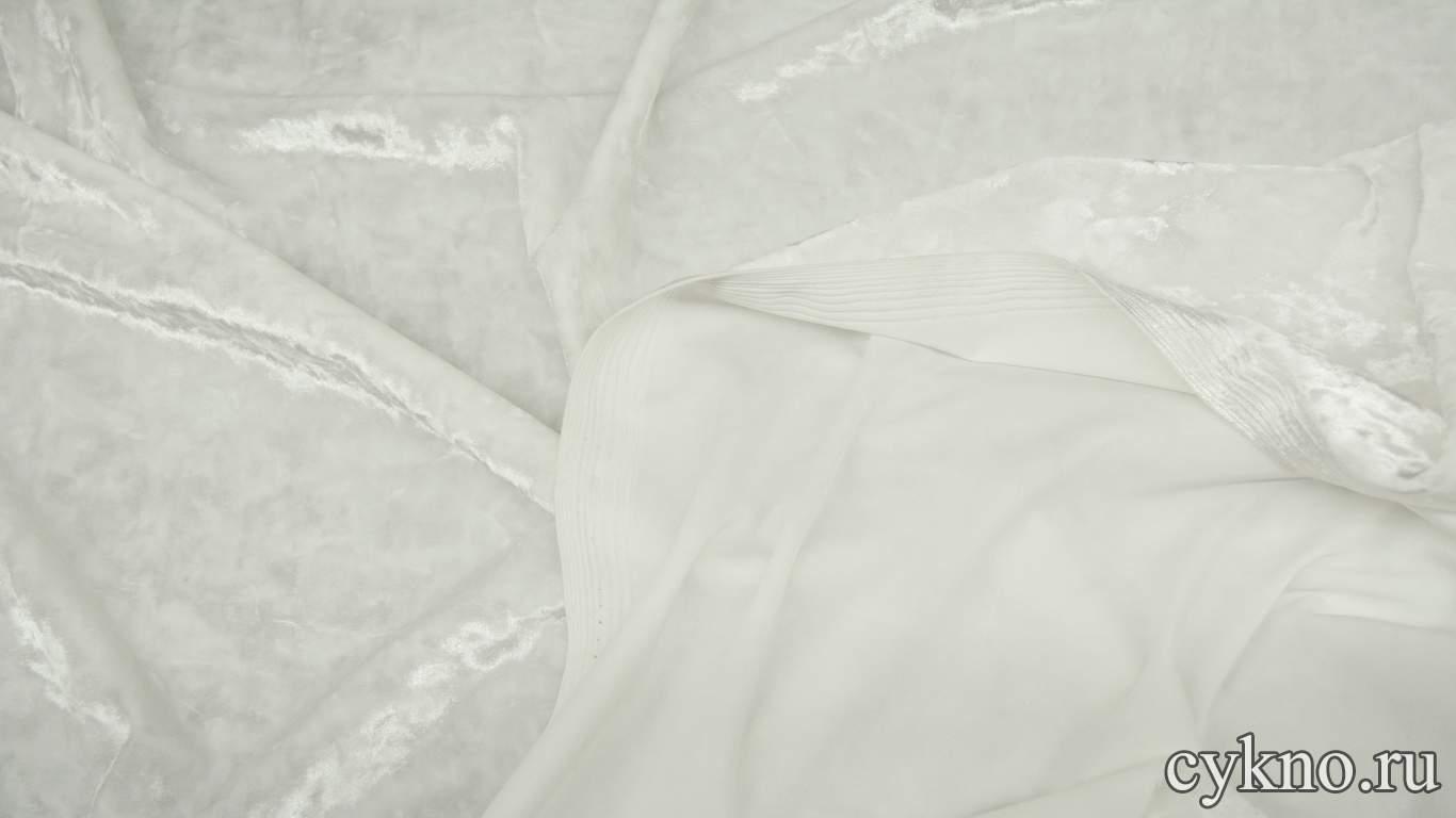 Бархат мраморный белый