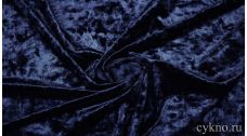 Бархат мраморный темный синий