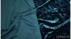 Бархат мраморный сине-зеленый