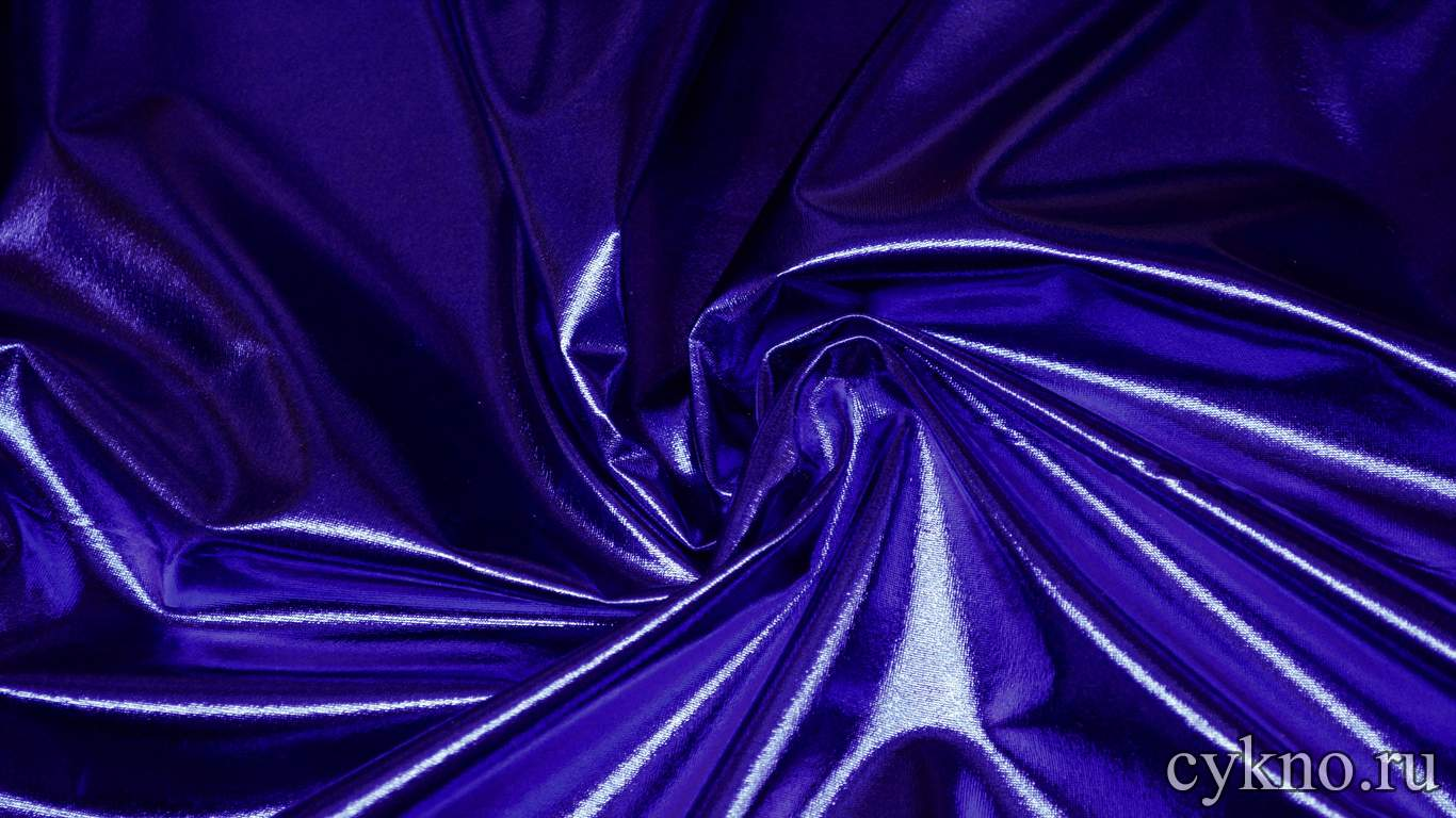 Парча-стрейч фиолетого-синяя