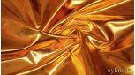 Парча-стрейч темное золото