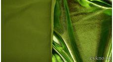 Парча-стрейч изумительного зеленого оттенка