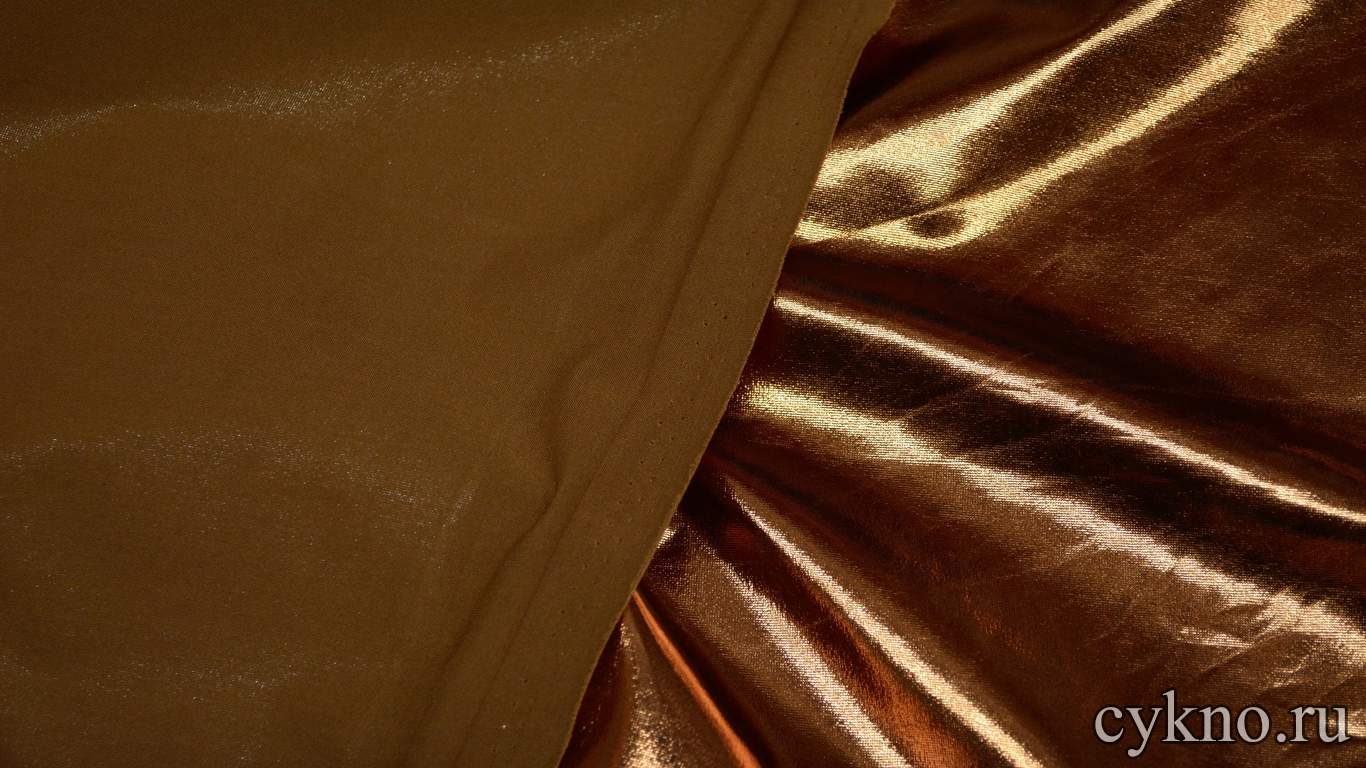 Парча-стрейч темная бронза