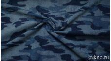 Флис камуфляж синий