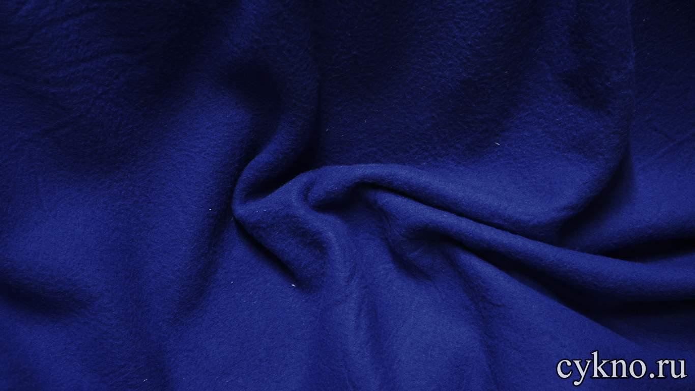 Флис синий ультрамарин