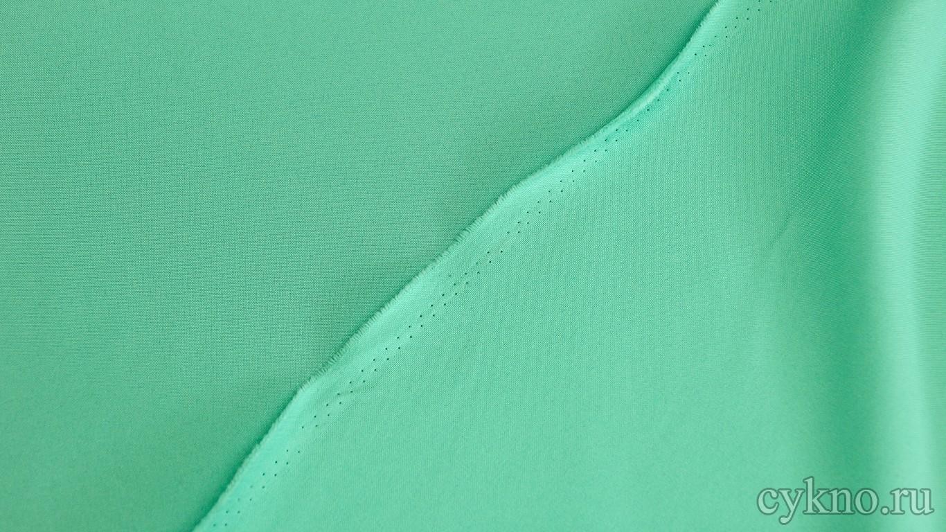 Габардин бирюзово-голубой