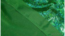 """Ткань Голограмма """"Зеленая Змея"""""""