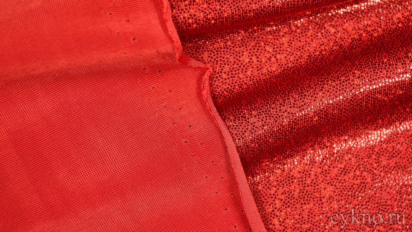 Ткань Голограмма Красная