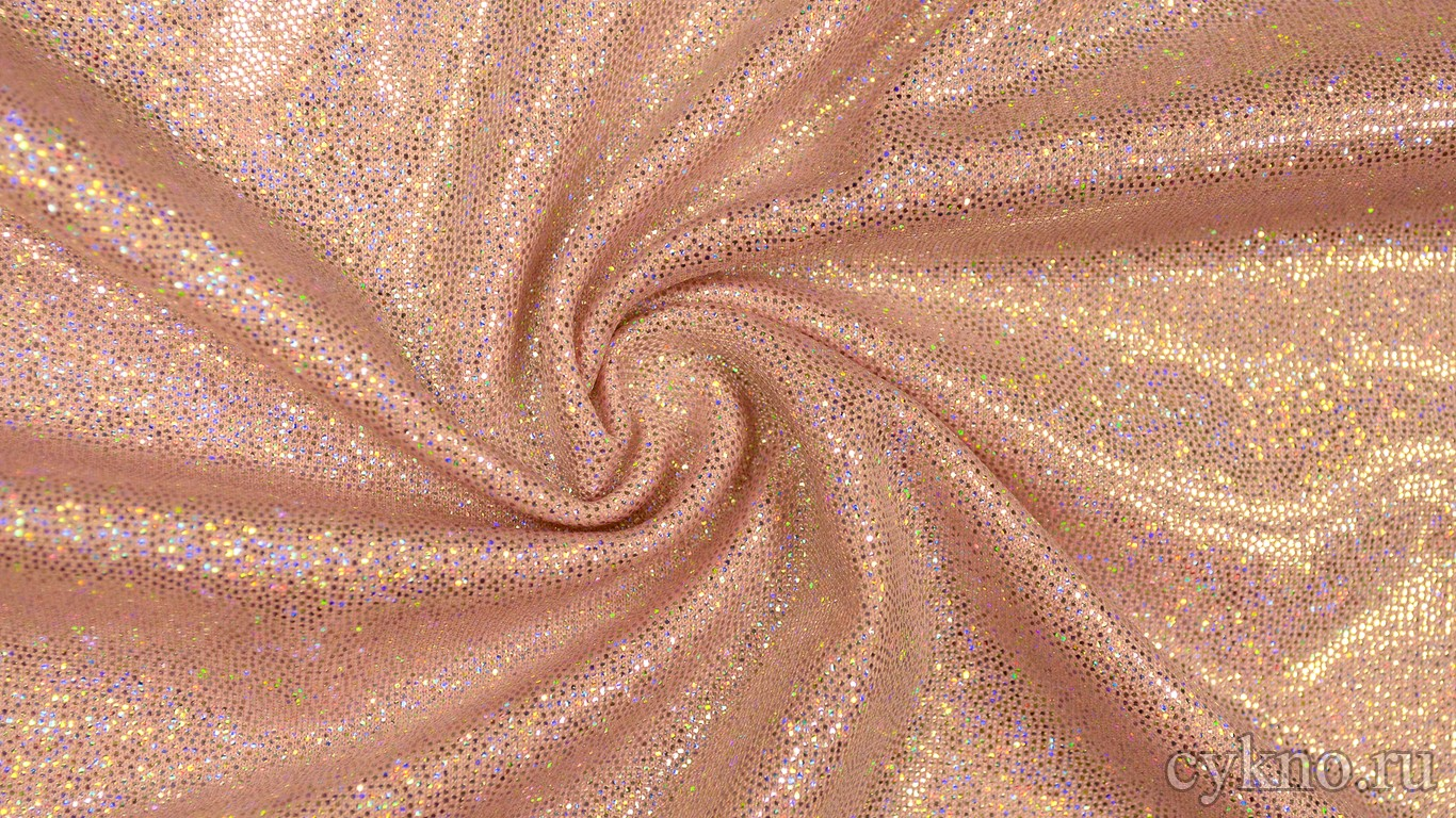 Ткань Голограмма Светло-розовая