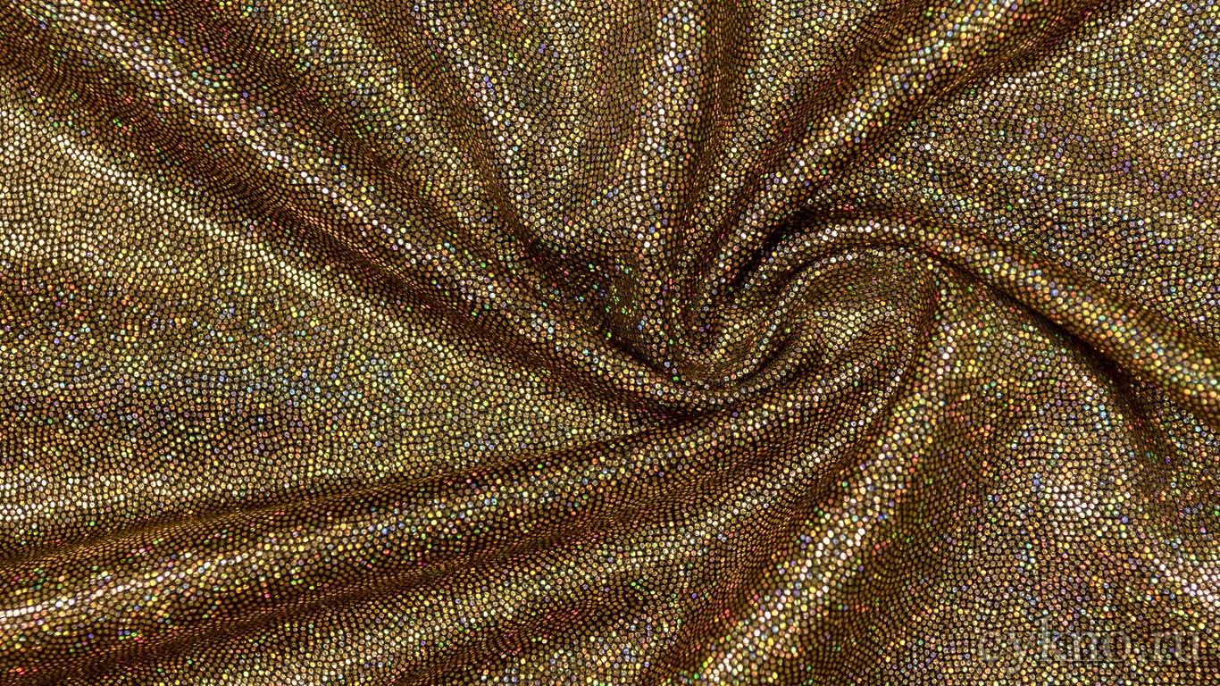 "Ткань Голограмма ""Золото скифов"""