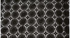 Ткань Гипюр черный
