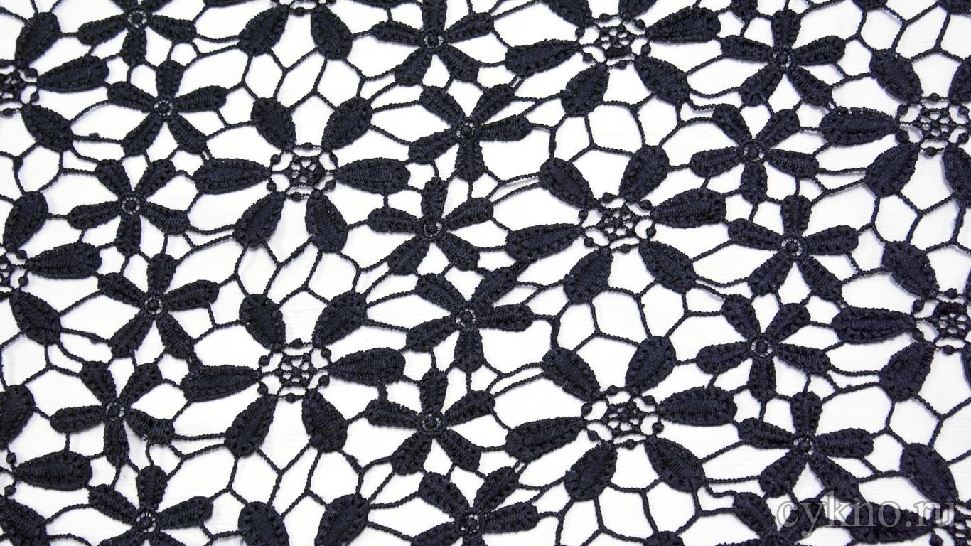 Ткань Гипюр кобальтово-синий