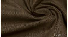 Ткань Джинс коричневый с полоской