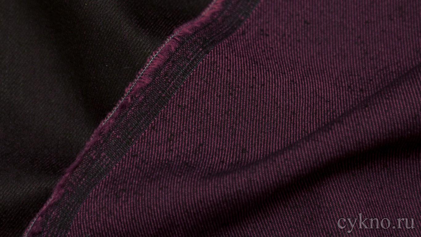 Ткань Джинс пурпурно-черный