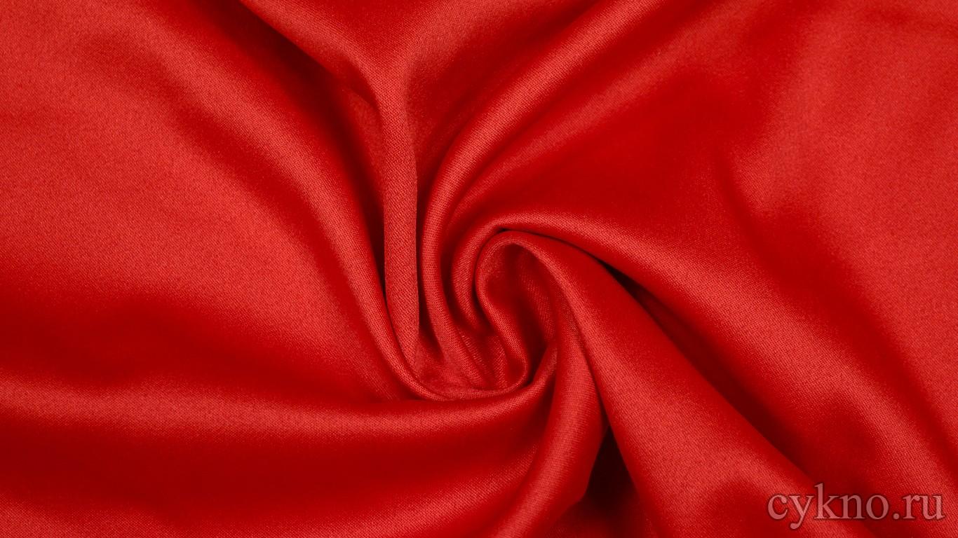 Ткань Костюмная Ярко-красная