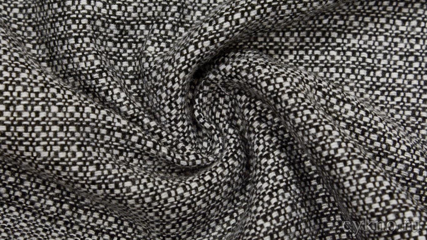 Ткань Костюмная Черно-белая