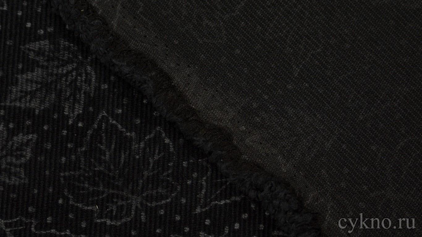 """Ткань Вельвет """"Кленовые листья"""""""