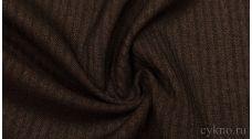 Ткань Костюмная Темно-коричневая в полоску