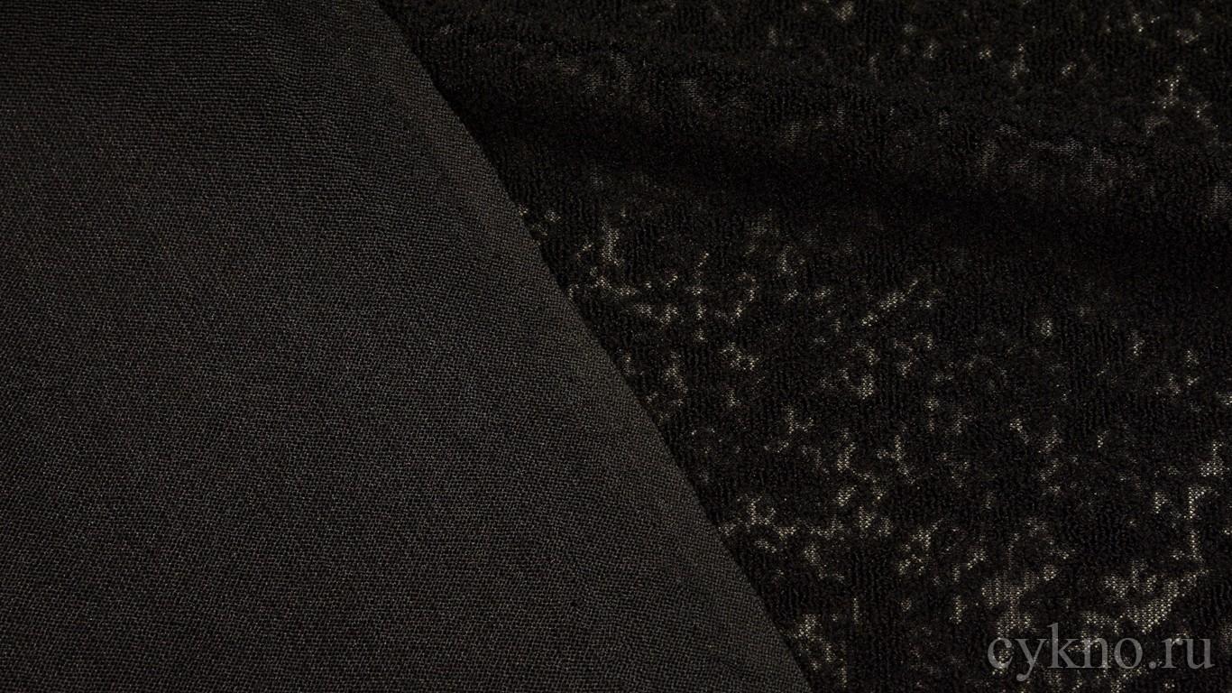 Ткань Костюмная черно-оливковая