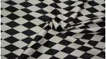 Кожзам черно-белый с геометрическим принтом