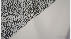 Кожзам черно-белый с леопардовым принтом
