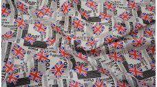 """Кожзам с принтом """"Флаг Великобритании"""""""