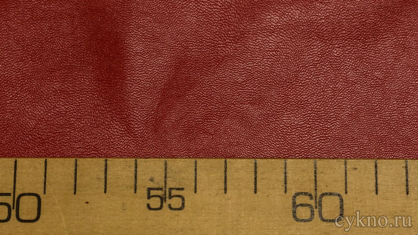 Кожзам Красный на х/б основе
