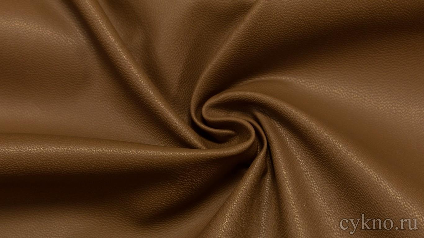 Кожзам Цвета Молочного Шоколада на х/б основе