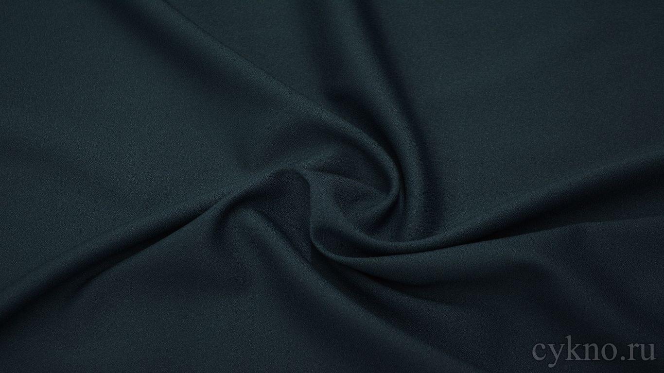 Креп костюмный насыщенный синий