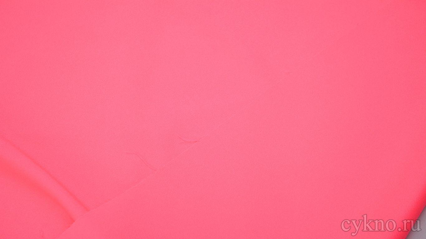 Креп костюмный ярко розовый