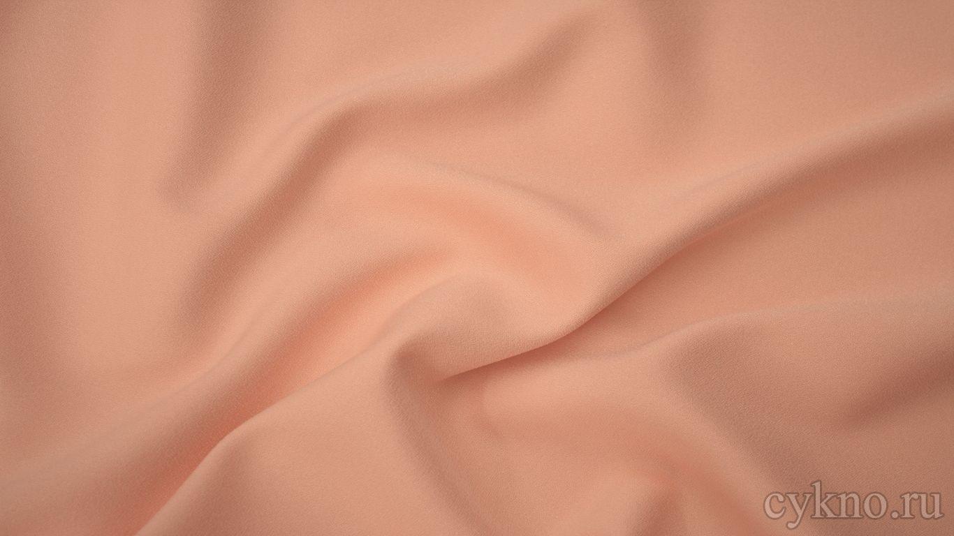 Креп костюмный пастельный кремовый