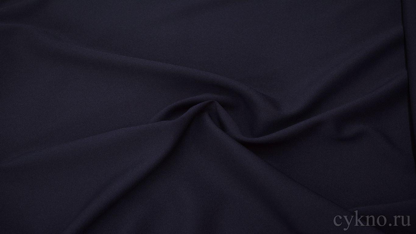 Креп костюмный темно-фиолетовый
