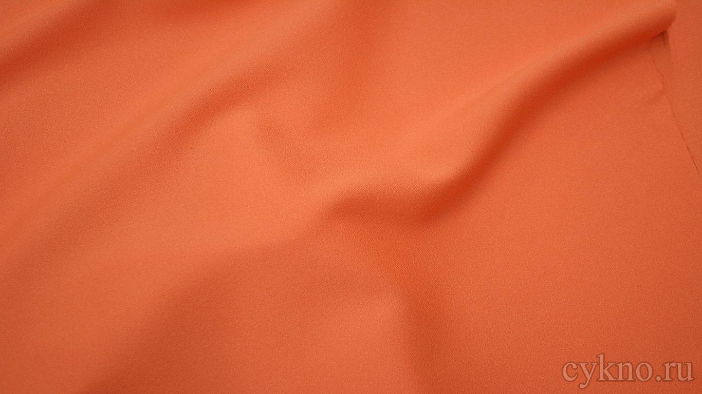 Креп костюмный оранжевый