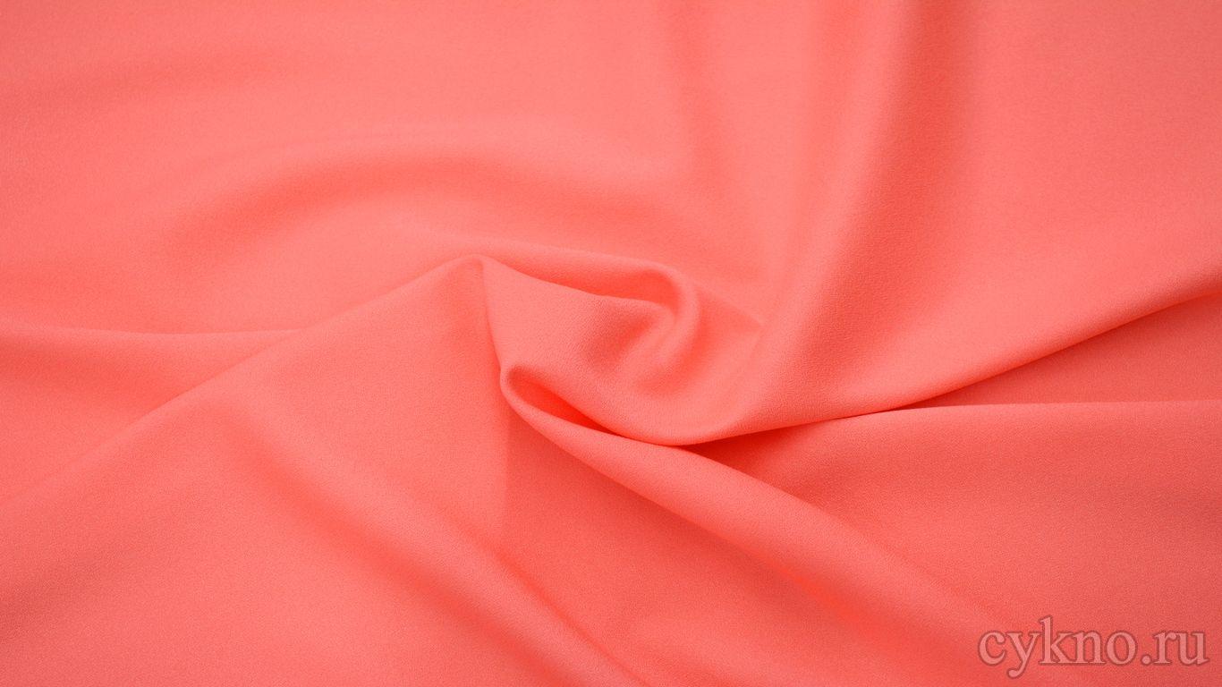 Креп костюмный броский розовый